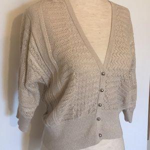 Tan sweater w half sleeves